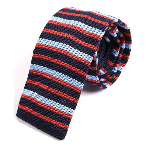 Navy Cambridge Fusion Knitted Tie
