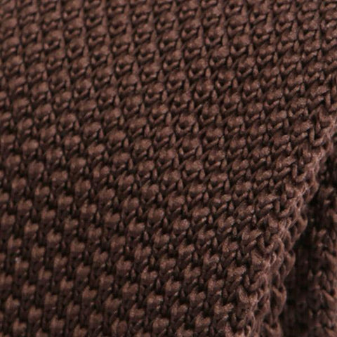 Brown Knitted Tie - Handmade Silk Wool And Knitted Ties by Tie Doctor