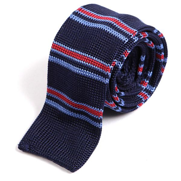 Ozwald Navy Silk Knitted Tie