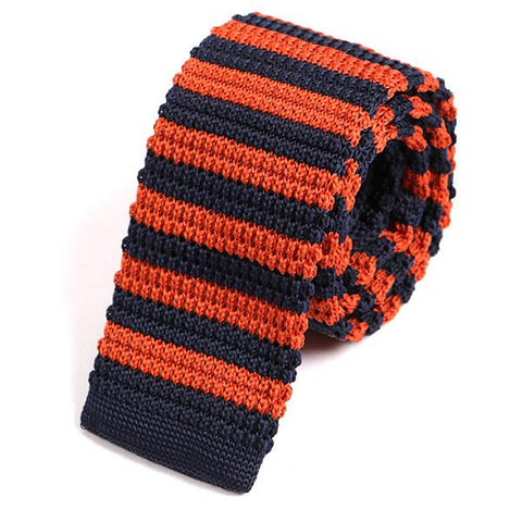 Orange Peter Knitted Tie
