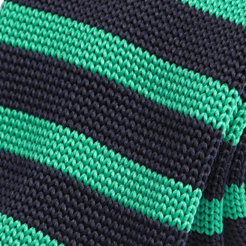 Mint Green Striped Knitted Tie