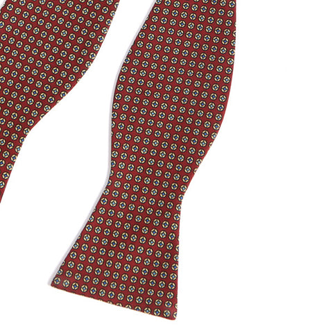 Dark Red Macclesfield Silk Bow Tie - Handmade Silk Wool And Knitted Ties by Tie Doctor