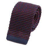 Navy & Red Fusion Silk Knitted Tie