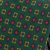 Green & Red Macclesfield Silk Tie - Handmade Silk Wool And Knitted Ties by Tie Doctor