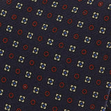 Navy & Red Circles Silk Tie - Handmade Limited Edition Ties by Tie Doctor