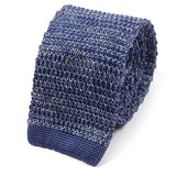 Light Blue Marl Tipped Silk Knitted Tie
