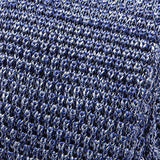 Blue Marl Silk Knitted Tie