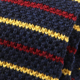 Blue And Red Striped Wool Knit Tie