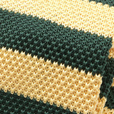 Yellow and Green Stripe Knitted Tie