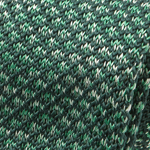 Green Scale Pointed Knitted Tie