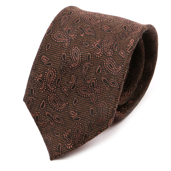 Brown Vintage Paisley Silk Tie
