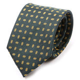Green Patterned Silk Tie