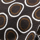 Brown Circle Silk Linen And Wool Blend