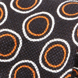Orange Circle Silk Linen And Wool Blend