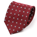 Red Patterned Silk Tie 8.5cm