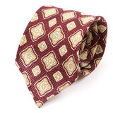 Wine Motif Silk Wool And Linen Tie