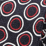 Red Circle Silk Linen And Wool Blend