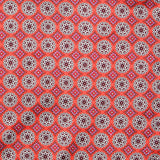Orange Multicoloured Motif Pocket Square