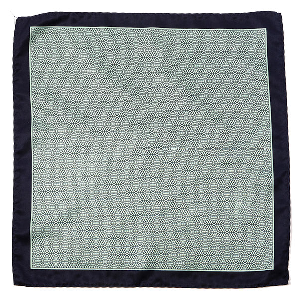 Navy & Mint Green Pocket Square