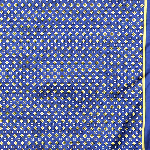 Blue And Yellow Pocket Square