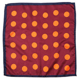 Red And Orange Polka Dots Pocket Square
