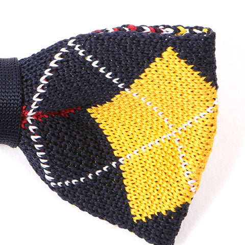 Geo Yellow And Red Bow Tie