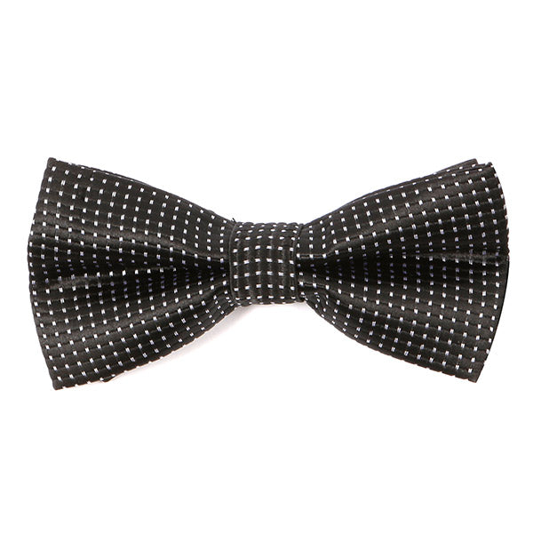 Black Dotted Bow Tie
