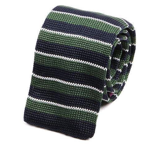 Meave Green Silk Knitted Tie - Handmade Limited Edition Ties by Tie Doctor