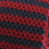 RED AND NAVY WOOL KNITTED TIE - Handmade Limited Edition Ties by Tie Doctor