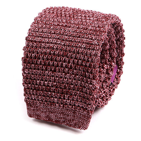 PINK MARL SILK KNITTED TIE - Handmade Limited Edition Ties by Tie Doctor