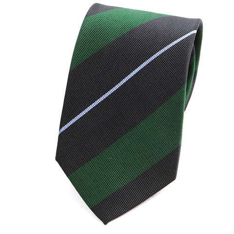 Green Bold Striped Silk Tie - Handmade Limited Edition Ties by Tie Doctor