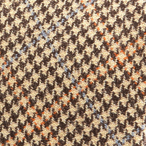 Light Brown Houndstooth Wool Tie - Handmade Silk Wool And Knitted Ties by Tie Doctor