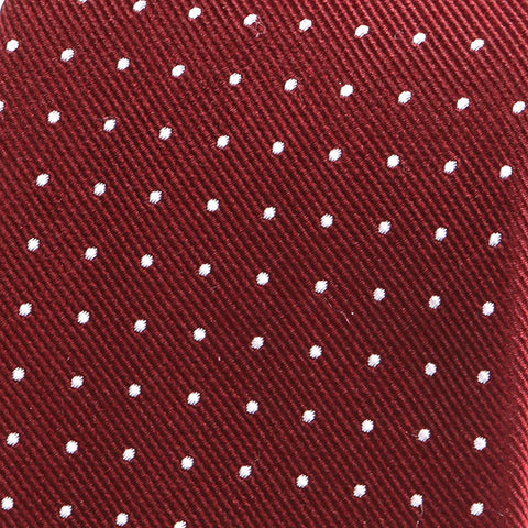 RED & WHITE DOTS SILK TIE - Handmade Limited Edition Ties by Tie Doctor