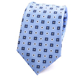 Light Blue Macclesfield Floral Silk Tie - Handmade Silk Wool And Knitted Ties by Tie Doctor