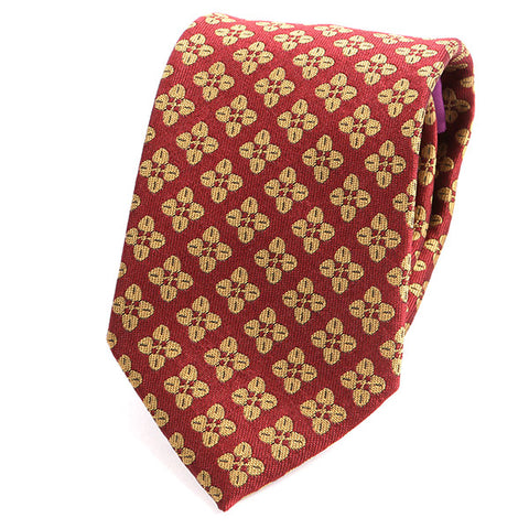 RED ITALIAN SILK TIE - Handmade Limited Edition Ties by Tie Doctor