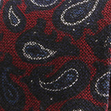 Red Paisley Wool Tie