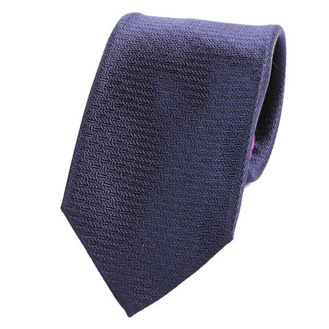 NAVY BLUE ITALIAN SILK TIE - Handmade Silk Wool And Knitted Ties by Tie Doctor