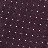 PURPLE & WHITE DOTS SILK TIE - Handmade Limited Edition Ties by Tie Doctor