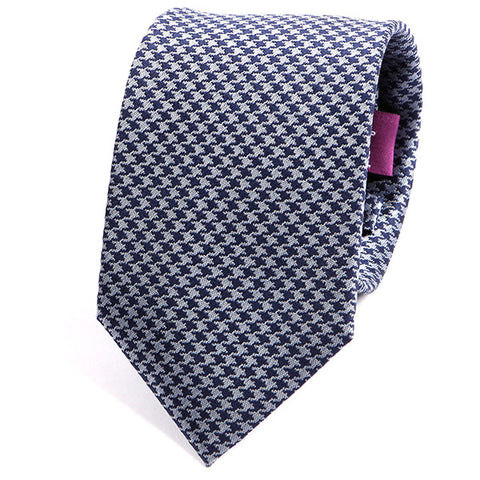 Vivid Blue Check Silk Tie