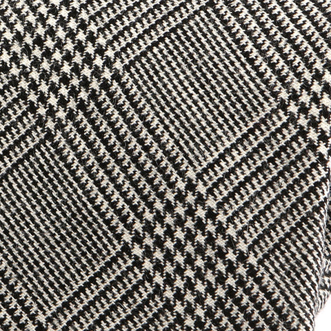 Vivid Light Grey Check Wool Tie