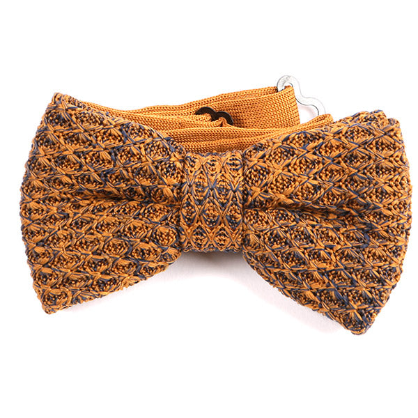 Orange Knitted Bow Tie - Handmade Limited Edition Ties by Tie Doctor