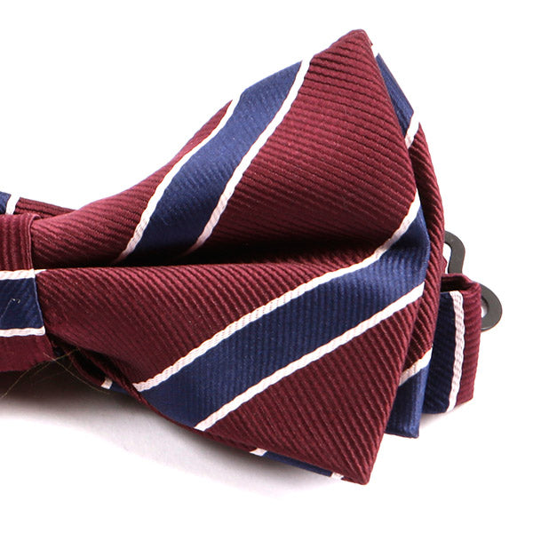 366ce27822d8 Red & Navy Striped Bow Tie - Handmade Limited Edition Ties by Tie Doctor ...