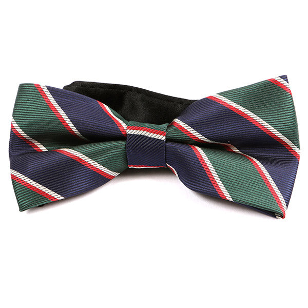 Navy Thick Striped Bow Tie - Handmade Limited Edition Ties by Tie Doctor