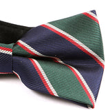 Navy Thick Striped Bow Tie