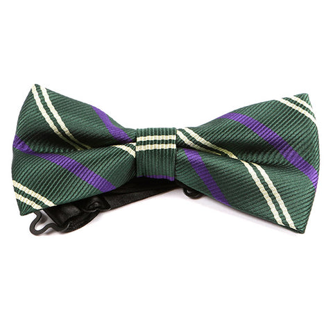 Green Trio Striped Bow Tie - Handmade Limited Edition Ties by Tie Doctor