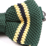 Green & Black Knitted Bow Tie - Handmade Silk Wool And Knitted Ties by Tie Doctor
