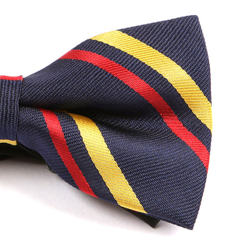 Navy Trio Striped Bow Tie - Handmade Limited Edition Ties by Tie Doctor