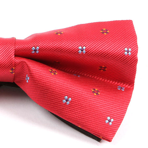 Red Floral Bow Tie - Handmade Limited Edition Ties by Tie Doctor