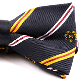Navy & Yellow Striped Bow Tie - Handmade Silk Wool And Knitted Ties by Tie Doctor