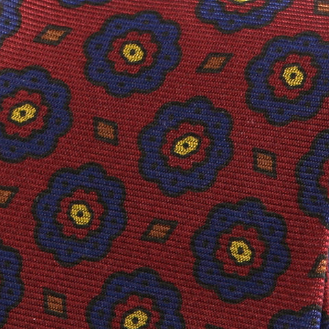 Slim Red Macclesfield Silk Tie